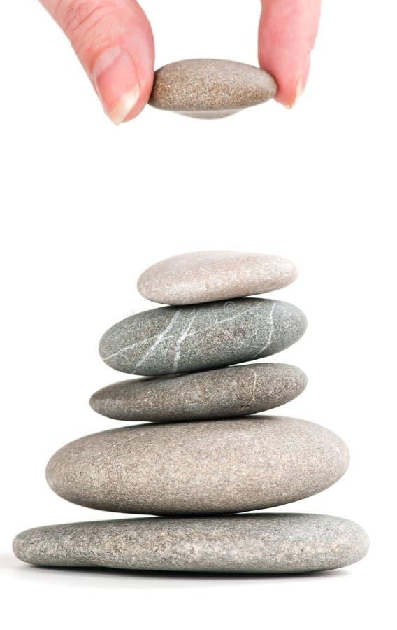 Pedras em pilha equilibrada fotografia de stock