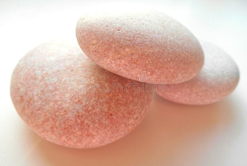 pedras em um fundo branco fotografia de stock