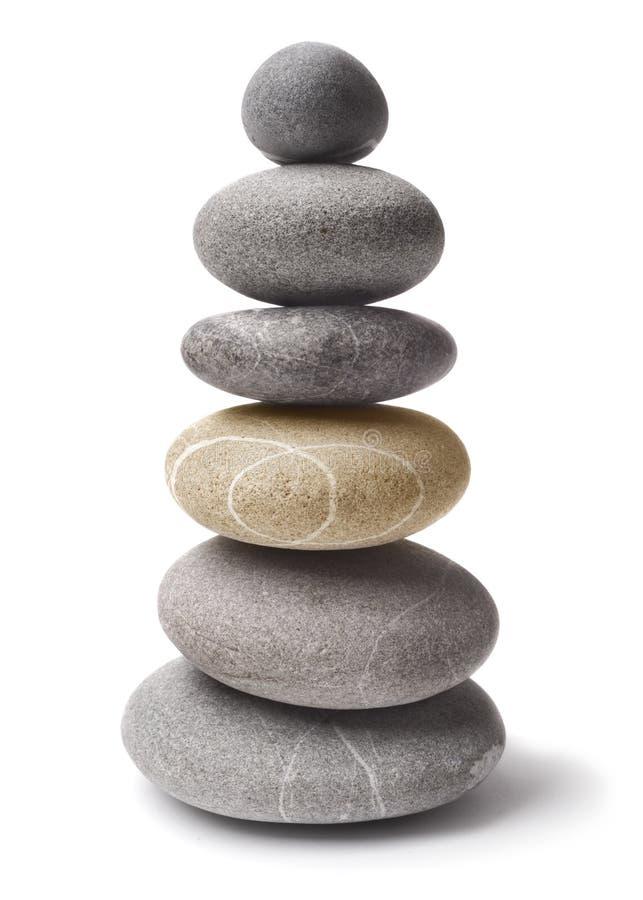 Pedras empilhadas do seixo foto de stock
