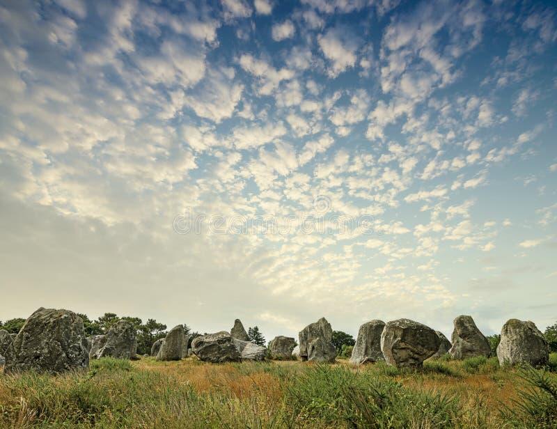 Pedras eretas - megálitos fotografia de stock