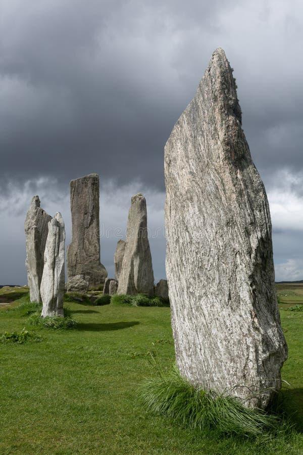 Pedras megalíticas em Escócia imagem de stock