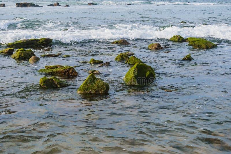 Pedras na costa foto de stock