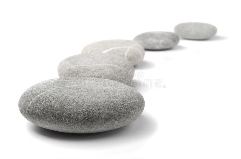 Pedras na linha fotografia de stock royalty free