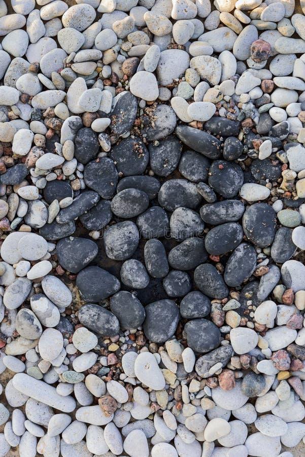 Pedras no jardim de rocha fotografia de stock royalty free