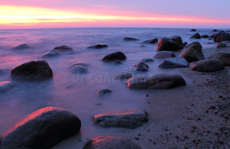 Pedras no mar Báltico fotos de stock