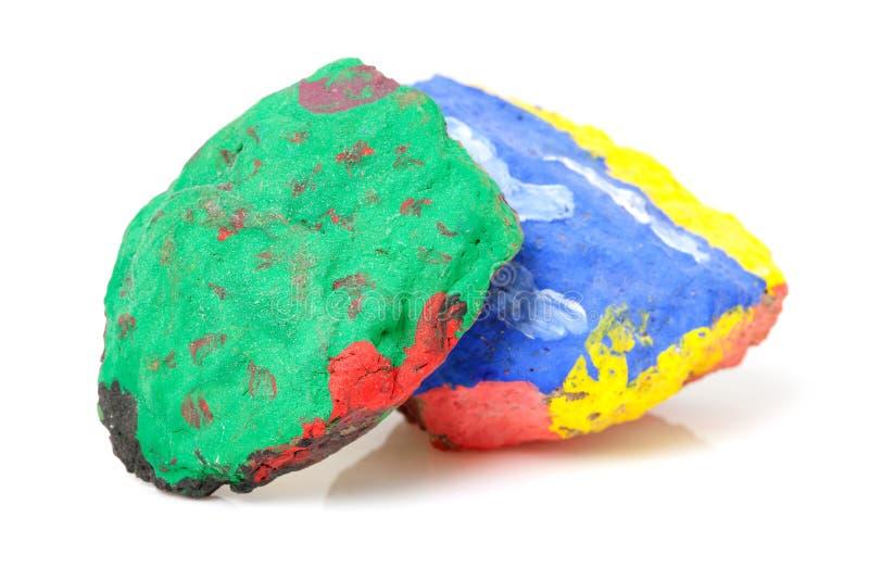 Pedras pintadas fotografia de stock