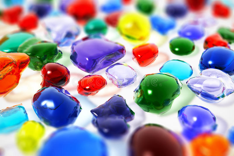 Pedras preciosas da cor ilustração royalty free