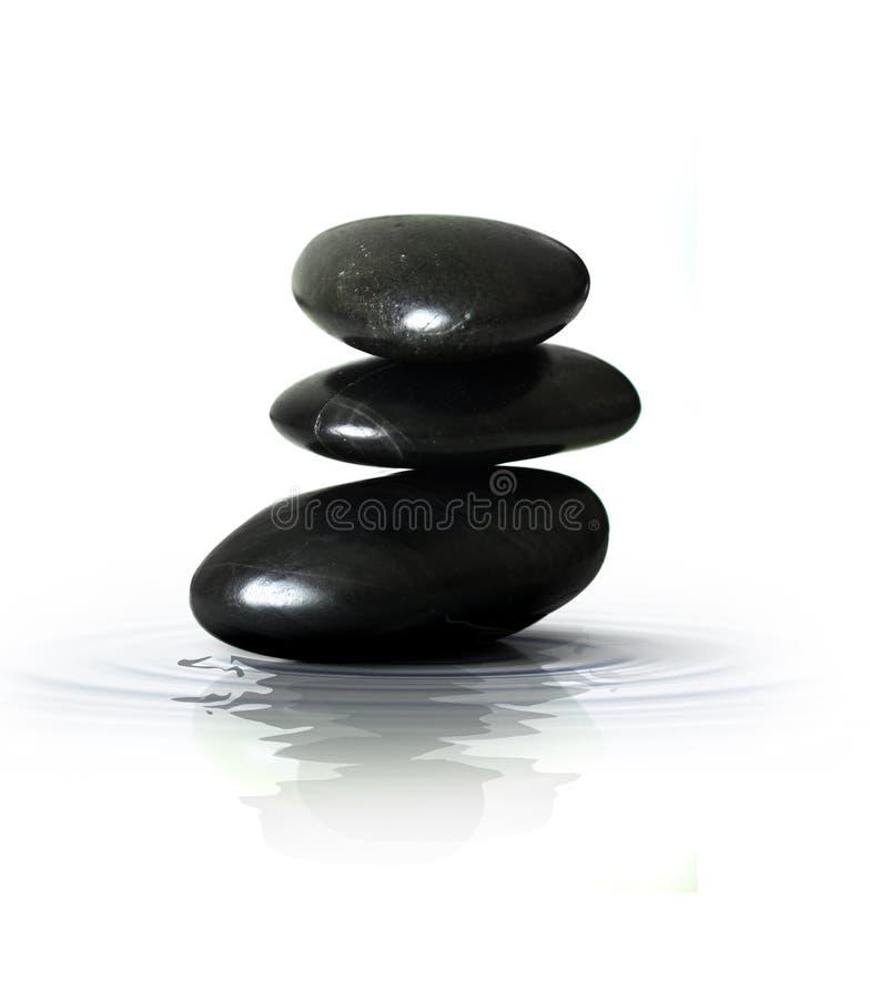 Pedras pretas do zen foto de stock royalty free