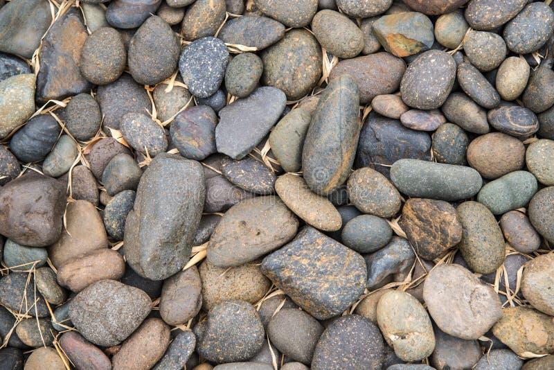 Pedras redondas do seixo fotografia de stock