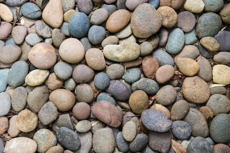 Pedras redondas do seixo foto de stock