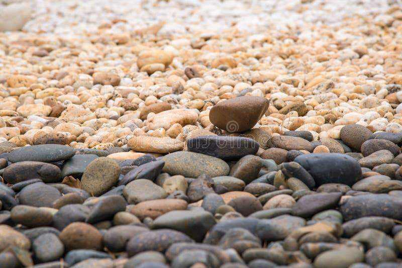 Pedras redondas do seixo fotografia de stock royalty free