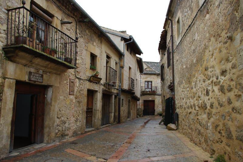 Pedraza medeltida by, Segovia, Spanien fotografering för bildbyråer