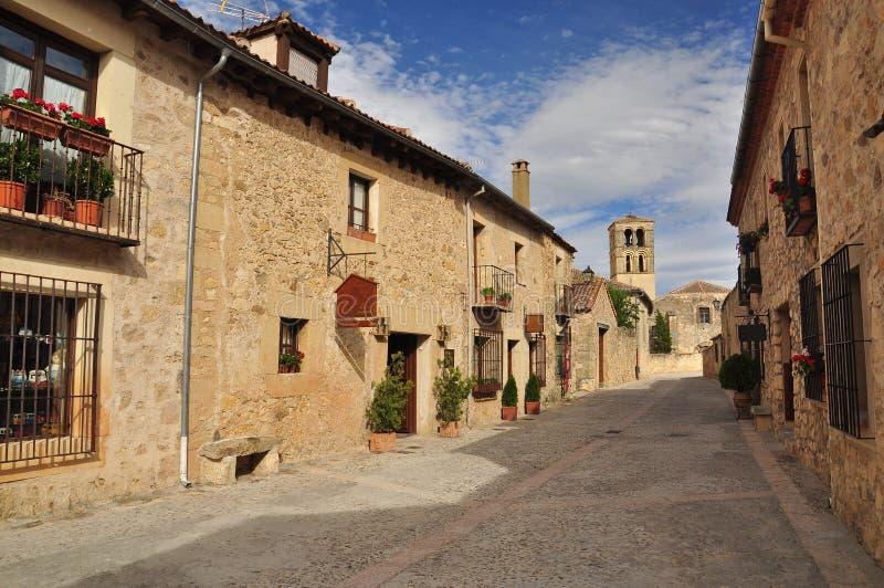 Pedraza Segovia landskap, Castile, Spanien royaltyfri foto