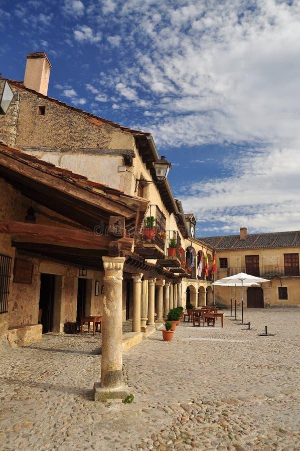 Pedraza Segovia landskap, Castile, Spanien arkivfoton
