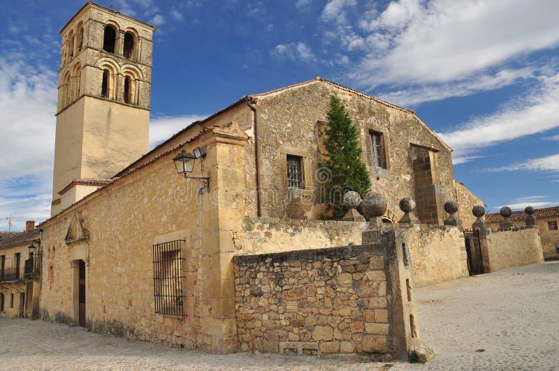Pedraza Segovia landskap, Castile, Spanien arkivbilder