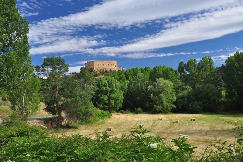 Pedraza slott, Castileregion, Spanien royaltyfria foton