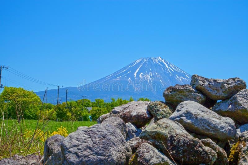 Pedregulhos de Monte Fuji & de lava fotografia de stock royalty free