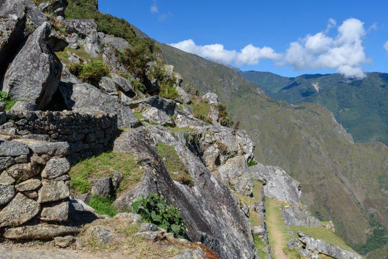Pedregulhos e montanhas em Machu Picchu fotos de stock