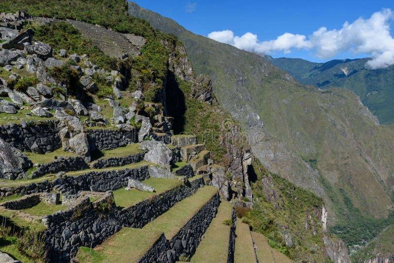 Pedregulhos e montanhas em Machu Picchu fotos de stock royalty free
