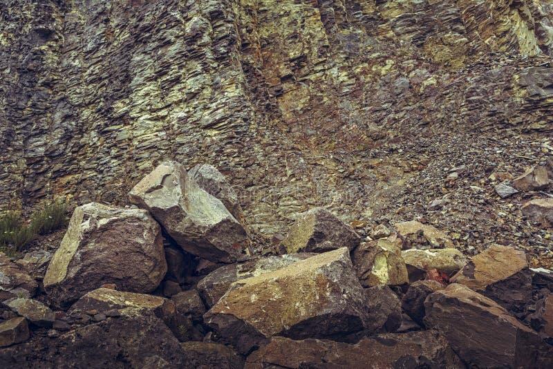 Pedreira abandonada do basalto imagens de stock royalty free