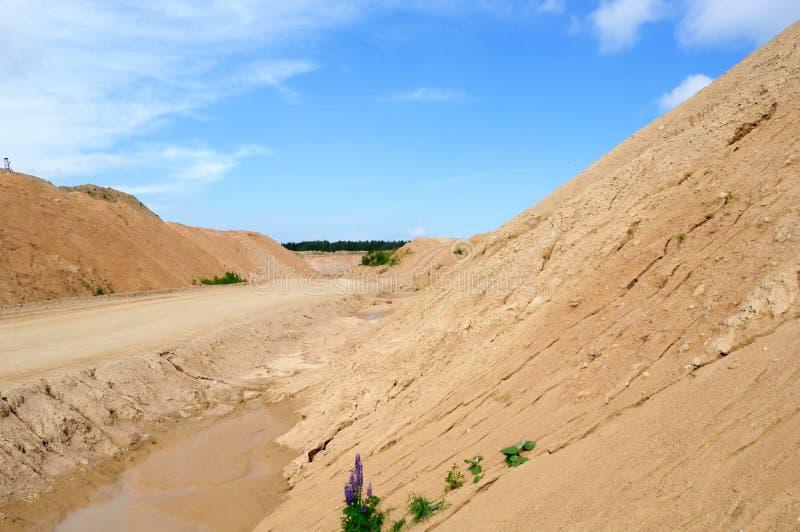 Pedreira da areia fotografia de stock royalty free