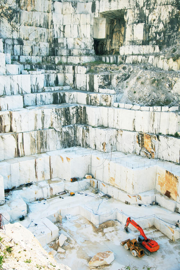 Pedreira de mármore branca Carrara, Italy imagens de stock royalty free
