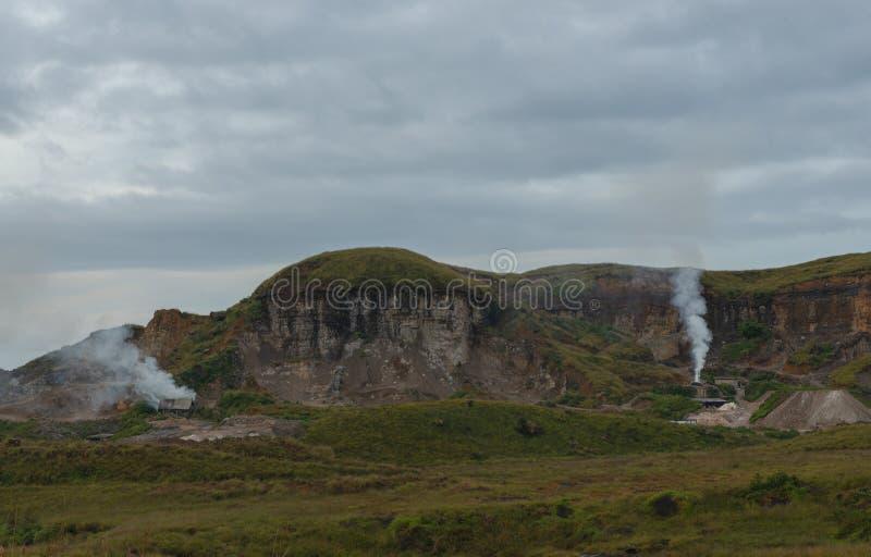 Pedreira de pedra perto da cidade de Cherrapunjee, Meghalaya, Índia fotografia de stock
