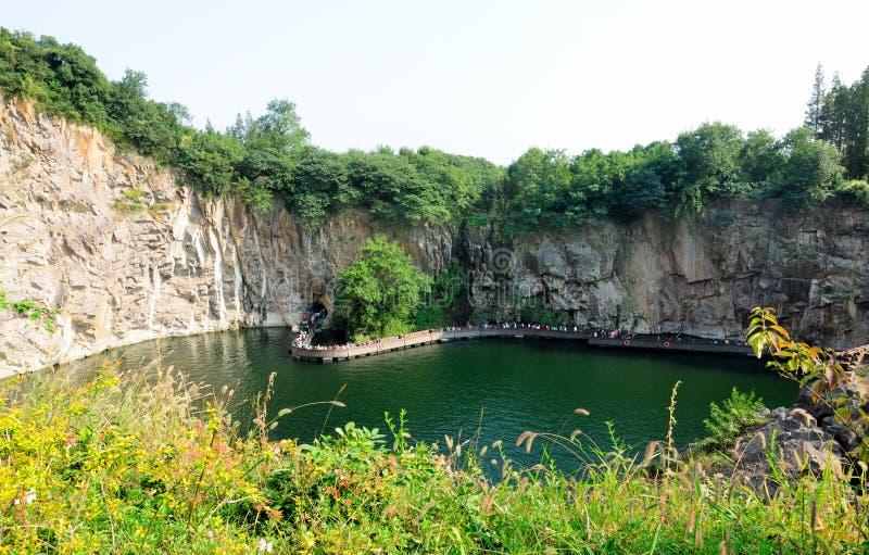 Pedreira do jardim botânico de Chenshan foto de stock royalty free