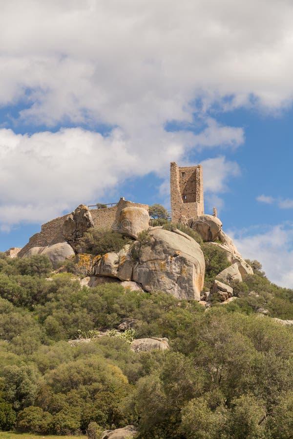 Pedres -奥尔比亚撒丁岛城堡  库存照片