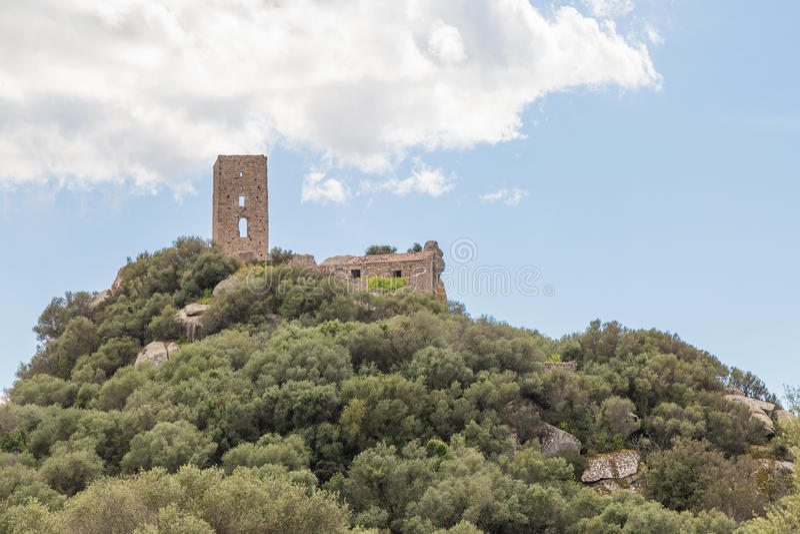 Pedres -奥尔比亚撒丁岛城堡  库存图片