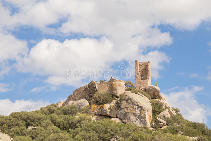 Pedres -奥尔比亚撒丁岛城堡  免版税库存图片