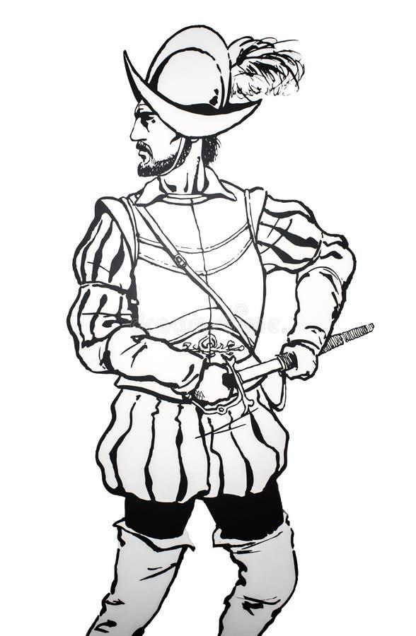 """Pedro de Alvarado, conquistador spagnolo, 1485†""""1541 fotografia stock"""