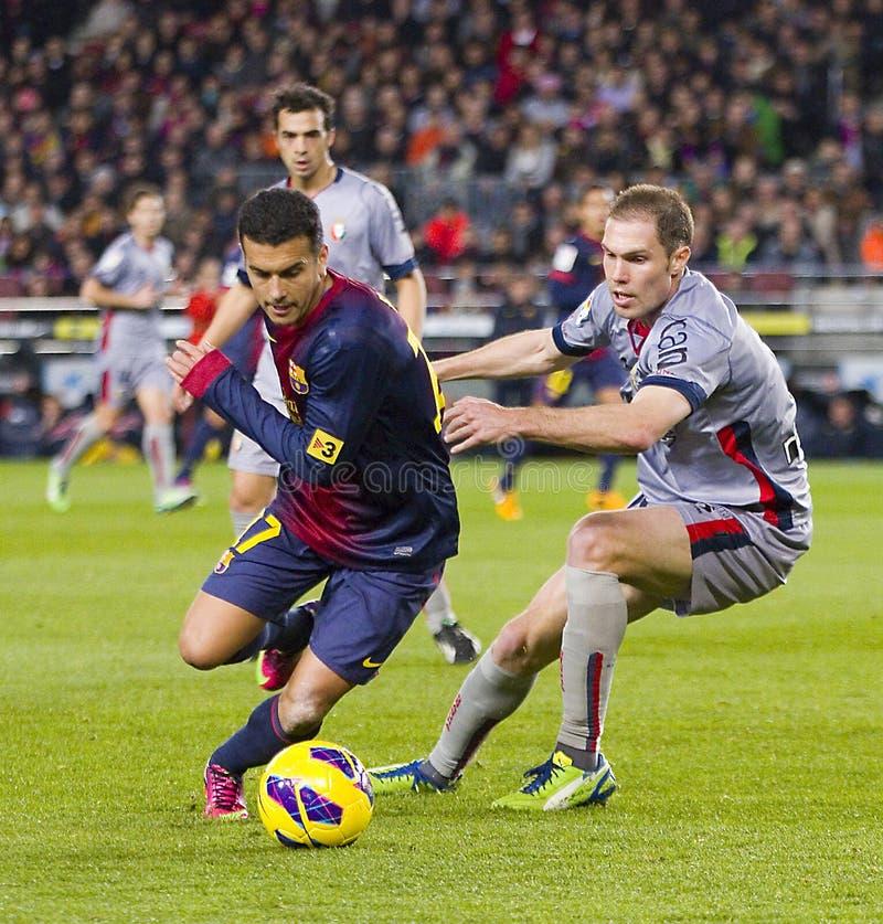 Pedro de FC Barcelona foto de archivo