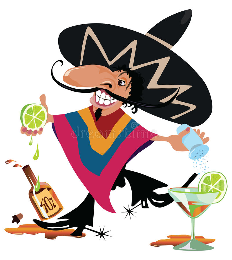 Pedro heureux illustration stock