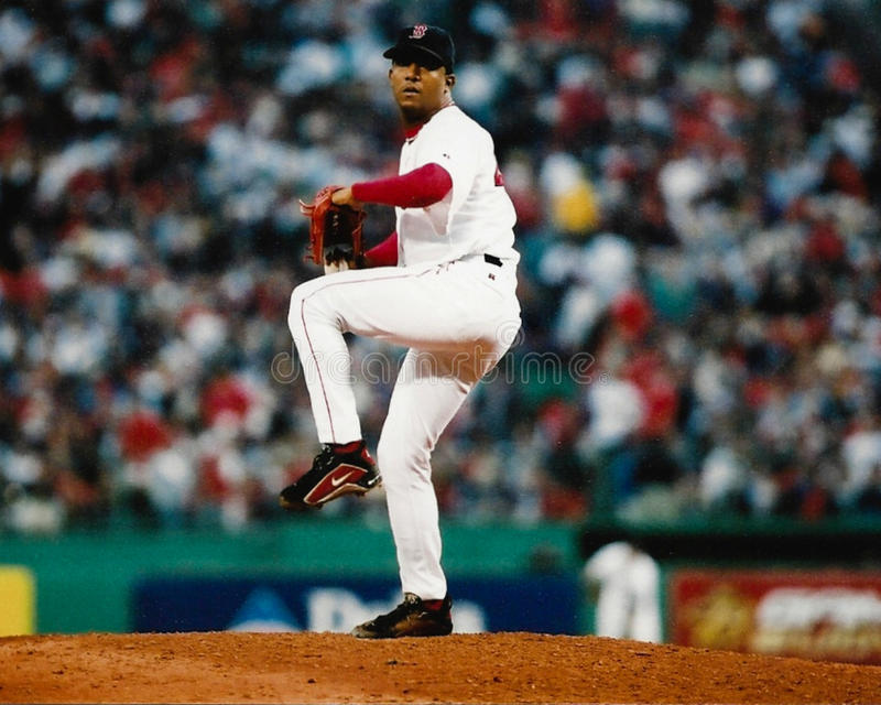Pedro Martinez Boston Red Sox royaltyfria foton
