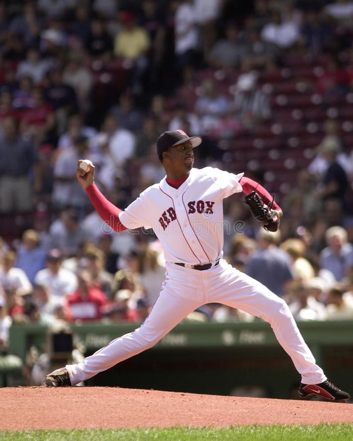 Pedro Martinez Boston Red Sox royaltyfria bilder