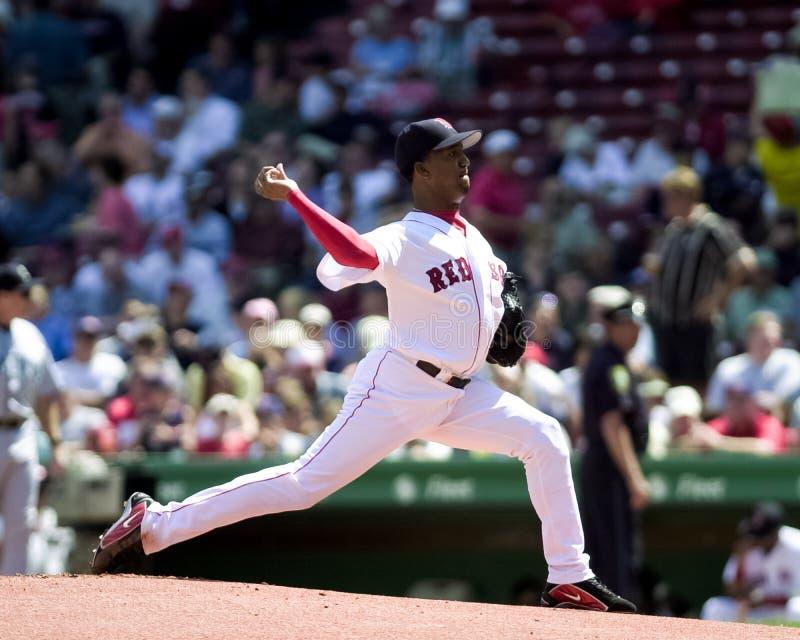 Pedro Martinez Boston Red Sox fotografering för bildbyråer