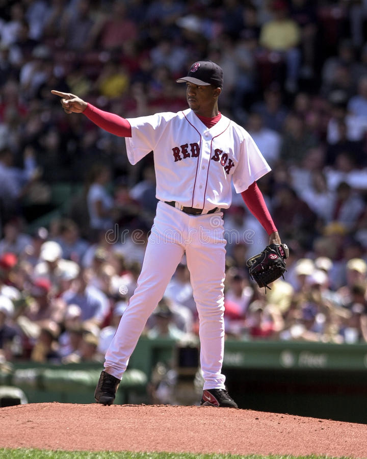 Pedro Martinez Boston Red Sox royaltyfri bild