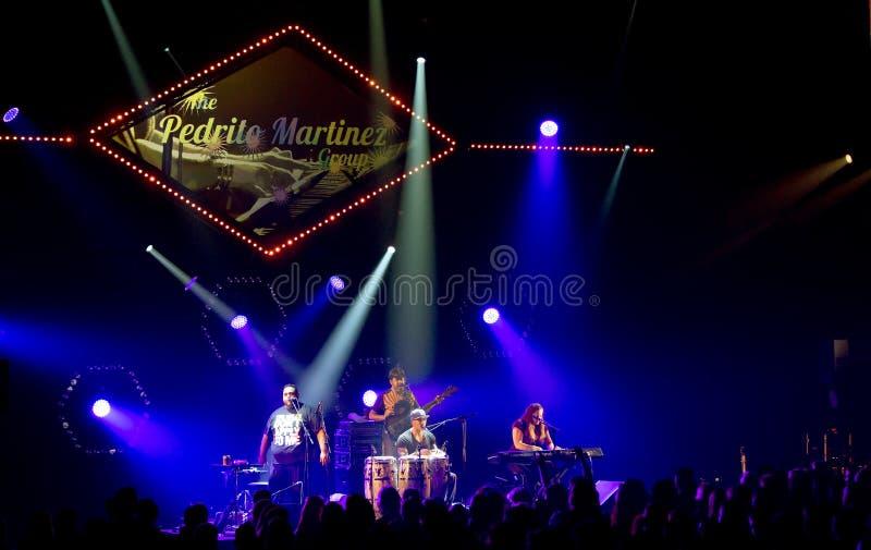 Pedro Martinez Group führt Live auf 28. April Jazz durch stockfotos