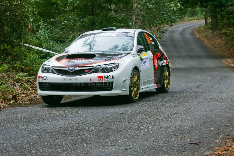 Pedro Meireles in Rallye Centro de Portogallo fotografie stock libere da diritti