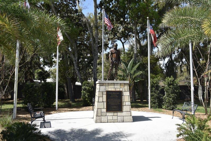 Pedro Menéndez de Avilés Courtyard, St Augustine, Florida fotografia stock libera da diritti