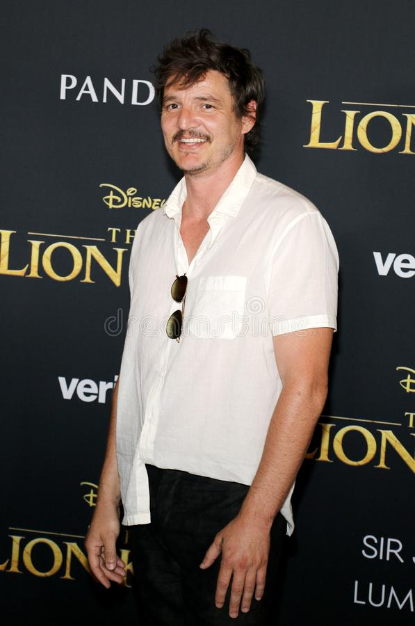 Pedro Pascal. At the World premiere of `The Lion King` held at the Dolby Theatre in Hollywood, USA on July 9, 2019 royalty free stock images