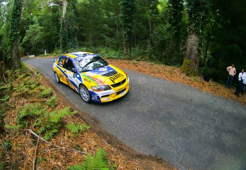 Pedro Peres in Rallye Centro de Portogallo fotografie stock libere da diritti