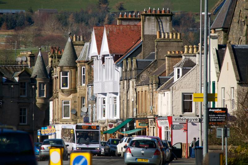 Peebles High Street royalty free stock images