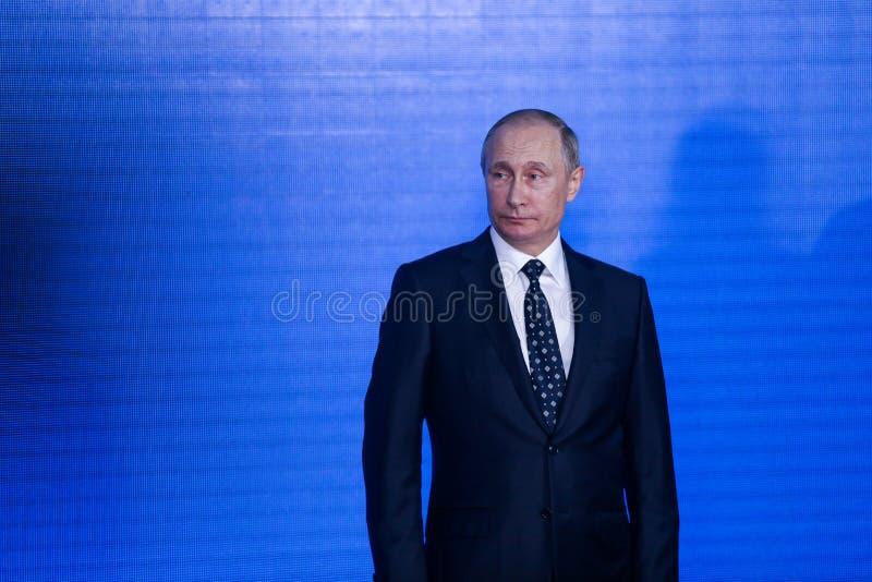 peech prezydentem federacja rosyjska Vladimir Putin w Primorsky oceanarium obrazy royalty free