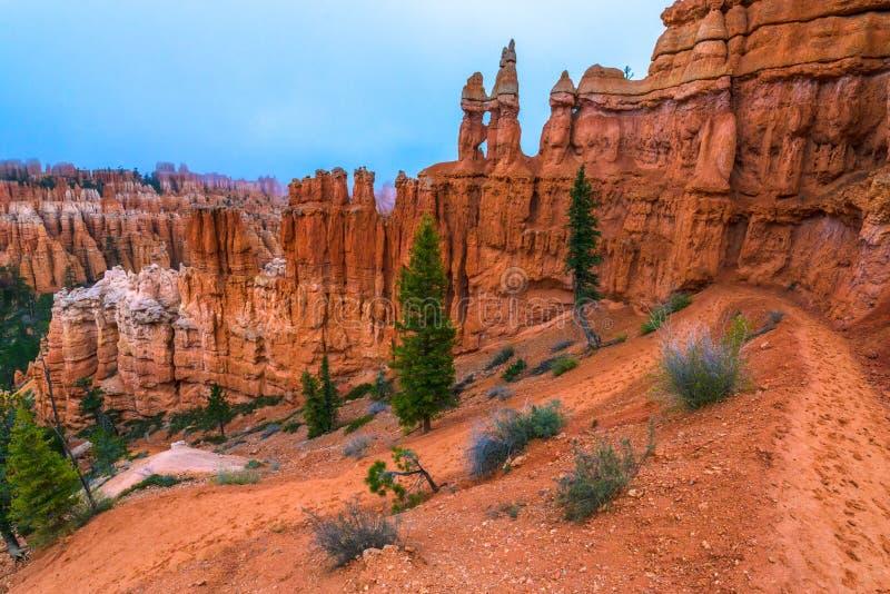 Peek-a-boo loop trail Bryce Canyon. Looking down a winding Peek-a-boo loop trail Bryce Canyon stock photography