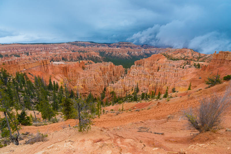 Peek-a-boo loop trail Bryce Canyon. National Park royalty free stock photography