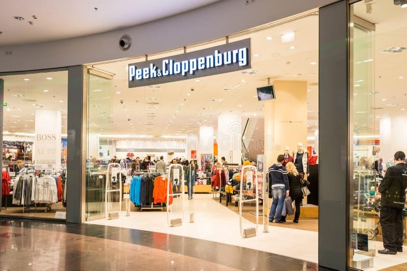 Peek & Cloppenburg Store. BUCHAREST, ROMANIA - DECEMBER 29: Peek & Cloppenburg Store on December 29, 2013 in Bucharest, Romania. It is an international chain of stock photos