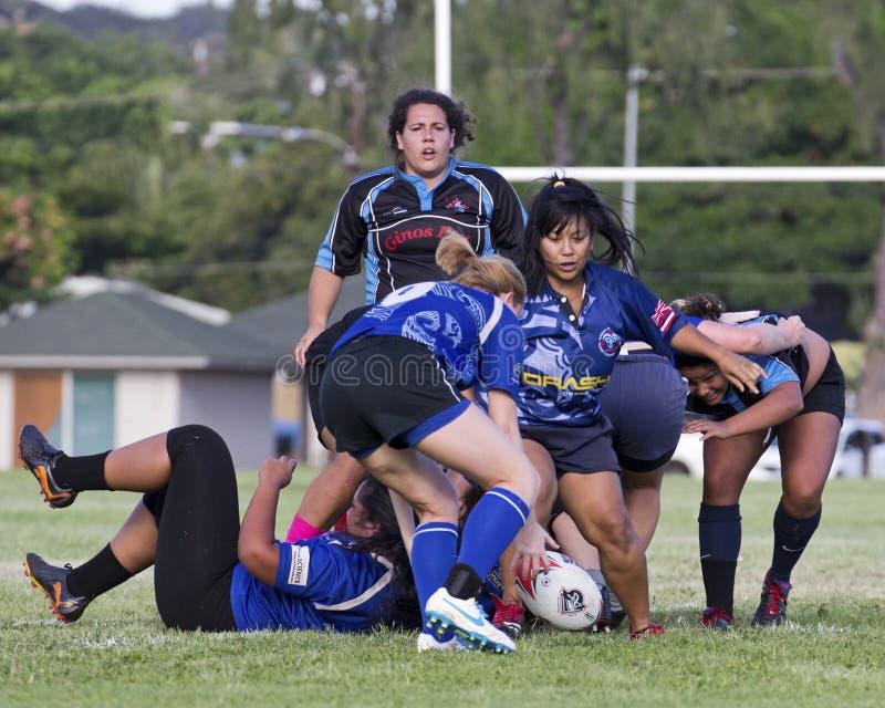 PeekAboo. Event: 2013 Rugby Championship, 08-12.X.13 Location: Queen Kapi'olani Park, Waikiki, on the island of O'ahu, Hawai'i, USA Subject: Lady Harlequeins ( royalty free stock photos
