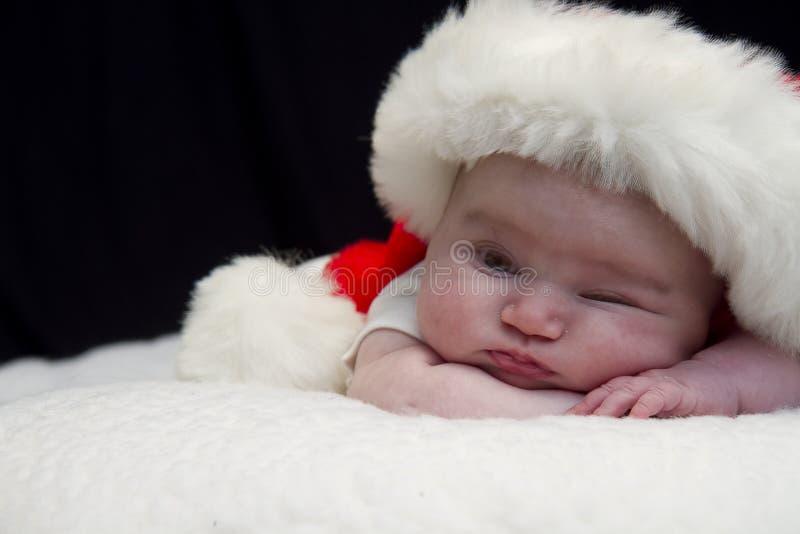 Peeking младенец Санта стоковое фото rf